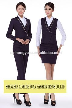 35%cotton65%polyester 5 star hotel restaurant staff uniform for women