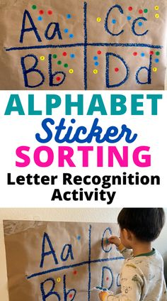 Letter Recognition Activity: Alphabet Sticker Sorting Easy Low-Prep Preschool Activity
