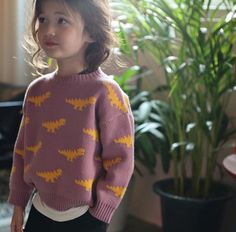 Ae-hem Dinosaur Sweater (Pink)
