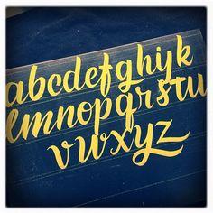 Cursive Alphabet Lettering, Caetano Calomino