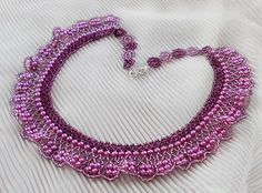 Free pattern for necklace Purple Rain   Beads Magic #Seed #Bead #Jewelry