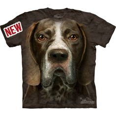 German Shorthaired Pointer Face T-Shirt Great Christmas Gift Big Pet... ($17) ❤ liked on Polyvore featuring tops, t-shirts, grey, women's clothing, christmas t shirts, graphic tees, grey t shirt, animal graphic tees and gray tee