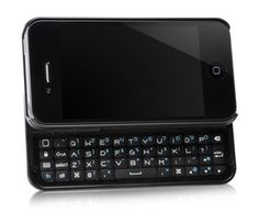 Have an iPhone but missing the Blackberry keyboard? Problem solved.