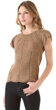 Crochetemoda: Blusa de Crochet Caramelo
