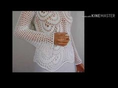 Blusa Crochê Branca Manga Longa - YouTube Crochet Top, Youtube, Crochet Patterns, Make It Yourself, Ideas, Tops, Women, Fashion, Men's T Shirts