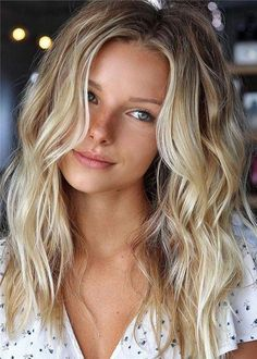 Balayage Blonde Ends - 20 Fabulous Brown Hair with Blonde Highlights Looks to Love - The Trending Hairstyle Blonde Brown Hair Color, Ombre Hair Color, Blonde Wig, Blonde Balayage, Brown Hair Colors, Ash Blonde, Blonde Highlights, Color Highlights, Burgundy Hair