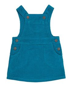 land of looms Peacock Blue Olivia Corduroy Organic Jumper - Infant | zulily