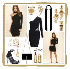 """""""Dress for the Start into a New year"""" by majalina123 on Polyvore featuring Mode, LULUS, Miss Selfridge, Yves Saint Laurent, Oscar de la Renta, 8 Other Reasons, Milani, Christian Dior und Urban Decay"""