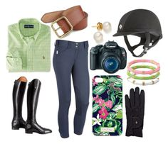 """""""Trying Horses"""" by rider-chic ❤ liked on Polyvore featuring Polo Ralph Lauren, Ralph Lauren, Lilly Pulitzer, Roeckl and Canon"""
