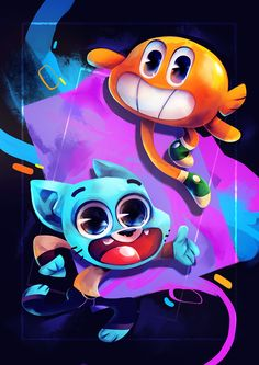 The Amazing World of Gumball Fan Art Stupid Cat, Cartoon Network Shows, World Of Gumball, Most Beautiful Wallpaper, Pretty Art, Asthma, Darwin, Cute Drawings, Cartoon Characters