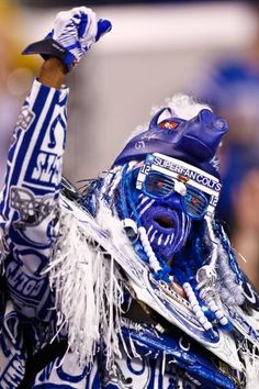 Now that's what we call a Colts fan.