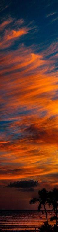 The very beautiful sunset in Hawaii #TravelBuff