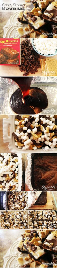 Gooey S'mores Brownie Bars #stepable