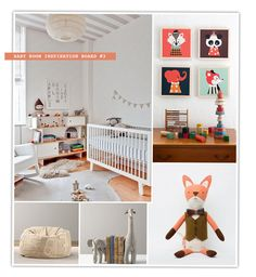 Well hello Mr. Fox.  This #baby #nursery is so whimsical.  Image from We're Having a Baby!