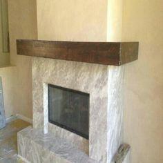 Knotty Alder Distressed Fireplace Beam Mantel By Sundance
