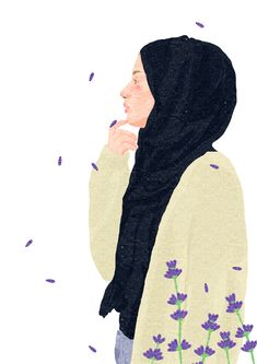 illustrator based in Vietnam Pretty Art, Cute Art, Cool Pictures For Wallpaper, Cover Wattpad, Islamic Cartoon, Hijab Cartoon, Cartoon Girl Drawing, Bullet Journal Art, Love Illustration