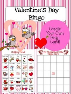 Valentine's Day Bingo Game Fun - Jason's Online Classroom - TeachersPayTeachers.com