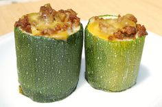 Baked stuffed zucchini-  we substituted butternut squash