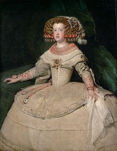 Maria Theresa of Spain, Velazquez, c1653. Photo: Kunsthistorisches Museum, Vienna.