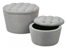 Dove Lacey Tufted Storage Set | SB239-M24 | Office Star - American Furniture Warehouse
