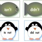 Math and Literacy Penguin Pack ~ Contractions and ABC Order activities ~ Great for Word Work centers