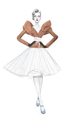 #Nicole Jarecz Illustration for #Dior