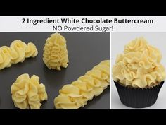 2 Ingrediente Crema de mantequilla de chocolate blanco NO hay tubos de azúcar en polvo como un sueño - YouTube Cake Frosting Recipe, Frosting Tips, Cake Icing, Frosting Recipes, Buttercream Frosting, Frosting Techniques, Cake Decorating Techniques, Cake Decorating Tutorials, White Chocolate Buttercream