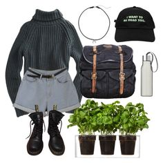 🌿🌿🌿 by leansshawty on Polyvore featuring polyvore, fashion, style, T By Alexander Wang, Dr. Martens, VIPARO, Dogeared, Flying Coffin, Boskke, Eva Solo and clothing