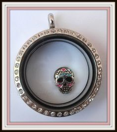 Sugar Skull / Calavera Floating Charm for Glass by GorgeousGadgets