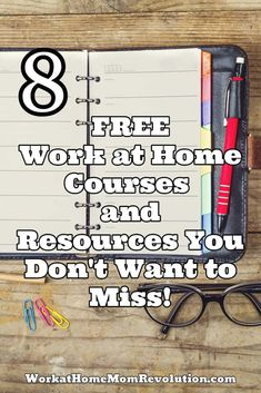 8 Free Work at Home Courses and Resources You Don't Want to Miss! I've created this list of free work at home courses and resources because I know, from personal experience, it's difficult to know where to start! Work From Home Moms, Stay At Home Mom, Make Money From Home, Way To Make Money, Make Money Online, Learn Online, Home Based Business, Online Business, Business Ideas