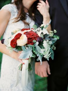 Bright rose and lambs ear bouquet: http://www.stylemepretty.com/louisiana-weddings/new-iberia/2015/10/05/whimsical-summer-wedding-at-rip-van-winkle-gardens/ | Photography: Greer G. Photography - http://www.greergphotography.com/