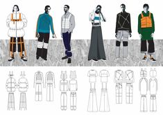 I am a fashion design student graduating from University of Leeds Fashion Design (Ind) course. I am looking for graduate level jobs in the menswear design area. Fashion Portfolio Layout, Fashion Design Sketchbook, Fashion Sketches, Streetwear Brands, Streetwear Fashion, Fashion 2020, Fashion Brands, Fashion Silhouette, Illustration Mode