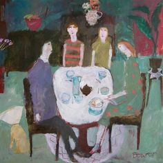 Love the way Susan Bower paints figures - a childlike quality to it