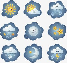 Cartoon style weather icon PNG and PSD Weather Icons, Home Activities, Foam Crafts, Clipart Images, Cartoon Styles, Clip Art, Esl, School Ideas, Cute