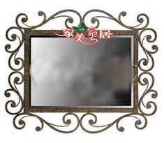 Most up-to-date Free of Charge Wrought Iron mirror Popular Household designing along with wrought iron will be as solid nowadays because wrought iron material itself. Natural Bathroom Mirrors, Bathroom Mirror Design, Diy Bathroom Decor, Vanity Bathroom, Bathroom Ideas, Wrought Iron Decor, Dressing Mirror, Iron Furniture, Picture Frames