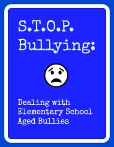 How to help stop bullying at elementary schools