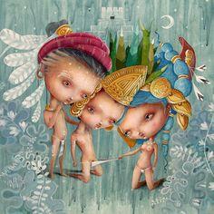 Ilustración para el Calendario Erótico Maya 2013 - Mes de febrero - Miguel Ángel Bethencourt - http://miguelbethencourt.com/