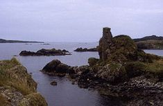 Dunyvaig Castle, (Scottish Gaelic: Dun Naomhaig, Anglicised Fort of the galleys, also known as Dunnyveg) is located on the south side of Islay, on the shore of Lagavulin Bay, 4 kilometres (2.5 mi) from Port Ellen.The castle was once a naval base of the Lord of the Isles, chiefs of Clan Donald. It was held by the chiefs of the Clan MacDonald of Dunnyveg.