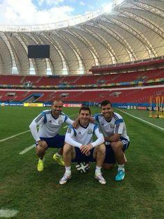 Javier Mascherano, Lionel Messi, Kun agüero, Argentina, Brasil 2014 www.footballvideopicture.com