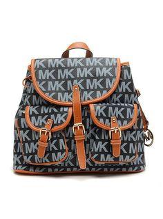 60364fab2331 Wholesale Michael Kors handbags outlet Online for sale - Off Michael Kors  Jet Set Signature PVC Large Blue Backpack -