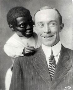 Incredibly Disconcerting Vintage Portraits of Ventriloquists and their Dummies.  Some of these are downright scary and might have inspired horror movies.  My brother used to be a ventriloquist, but his dummies were funny, not frightening.