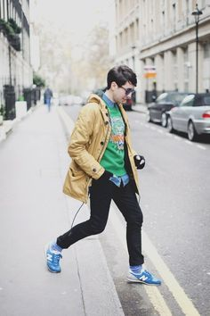 Image result for grey retro trainers style men