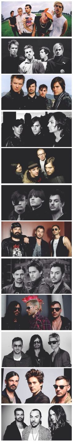 30STM through the years, only the best three remain. Jared Leto, Shannon Leto, Tomo Melicevic