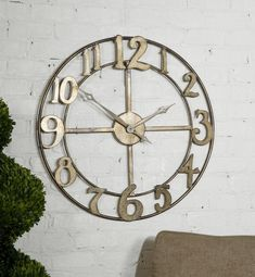 """This beautiful large wall clock will add a dramatic touch to your decor. Delevan 32"""" Metal Wall Clock #wallclock #largewallclock #largeclock #interiordecor #homeaccents #homedecoridea #homedecor #uniquehomedecor #shophomedecor #homedecorating  $213.40  ➤ http://bit.ly/2iDgHk9"""
