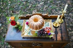 Vintage decor and bundt cake are always a sweet combination!