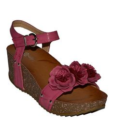 Fuchsia Wiggling Wedge by Lollipop Shoes on #zulily   They come in black, fuchsia, beige.....I WANT!