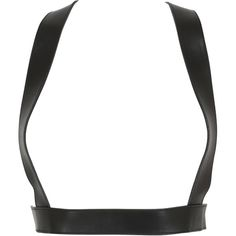 ZANA BAYNE LEATHER Xo Metallic Harness - Black (1.475 BRL) ❤ liked on Polyvore featuring accessories, black and zana bayne