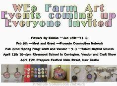 WEe Farm Art's Schedule of Appearances~