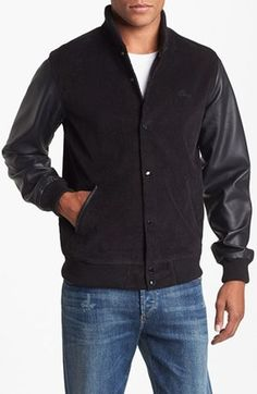 Obey Varsity Jacket #menswear #fashion #nordstrom