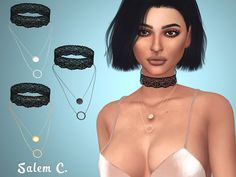 Sims 4 CC's - The Best: Lace Choker by Salem C.